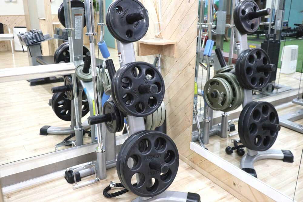 トレーニングマシンの重り